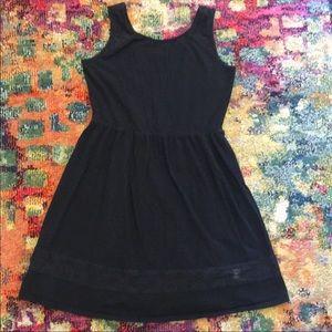 Mossimo skater dress black size large